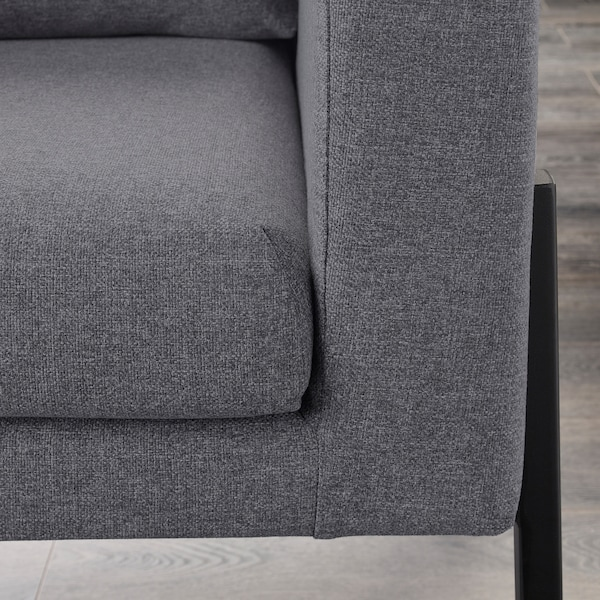 KOARP Armchair, Gunnared medium grey/black