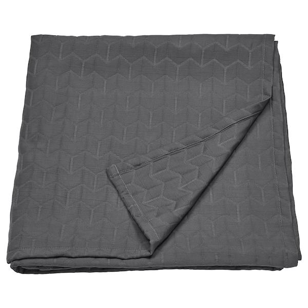 KÖLAX Bedspread, grey, 230x250 cm