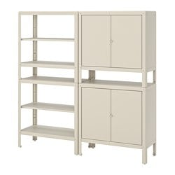 KOLBJÖRN Shelving unit with 2 cabinets