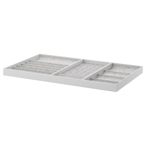 KOMPLEMENT insert for pull-out tray light grey 96.5 cm 100 cm 56.3 cm 6.7 cm 58 cm 10 kg