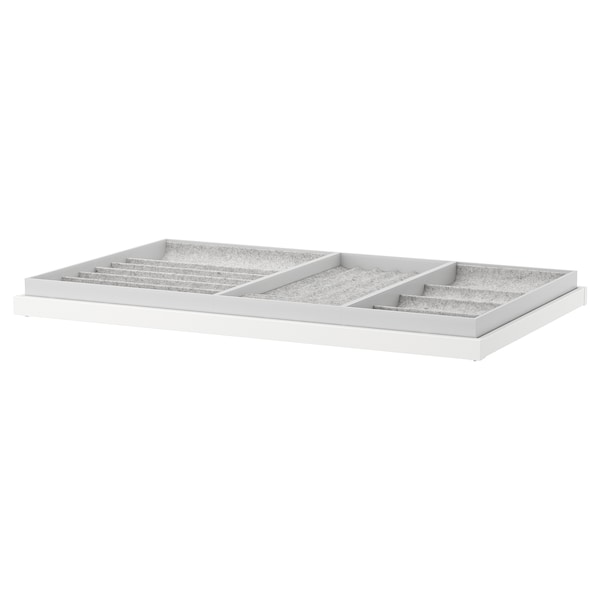KOMPLEMENT Pull-out tray with insert, white, 100x58 cm