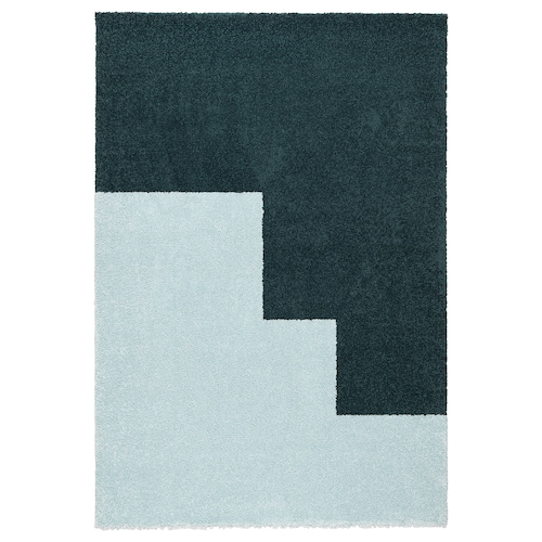 KONGSTRUP rug, high pile light blue/green 195 cm 133 cm 17 mm 2.59 m² 2500 g/m² 1490 g/m² 14 mm
