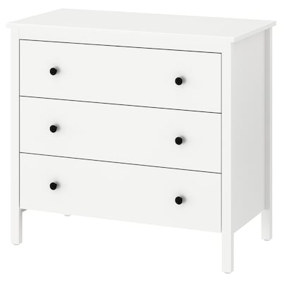 KOPPANG Chest of 3 drawers, white, 90x83 cm