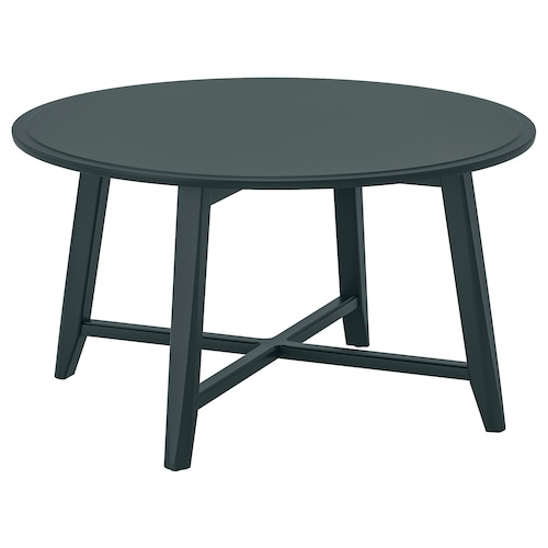 KRAGSTA coffee table dark blue-green 48 cm 90 cm