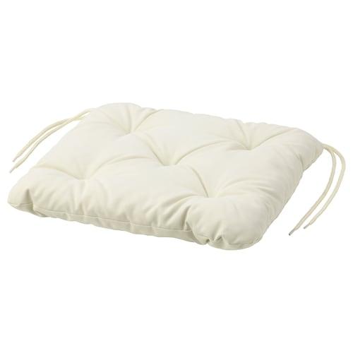 KUDDARNA chair cushion, outdoor beige 36 cm 32 cm 6 cm