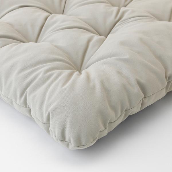 KUDDARNA Chair cushion, outdoor, grey, 44x44 cm