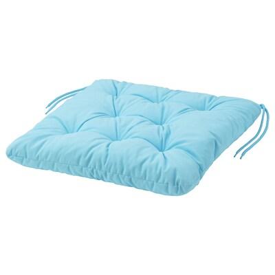 KUDDARNA Chair cushion, outdoor, light blue, 44x44 cm