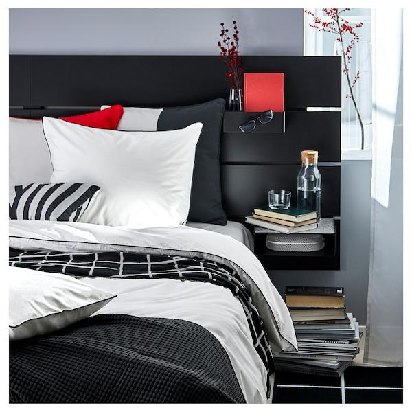 KUNGSBLOMMA غطاء لحاف و غطاء مخدة, أبيض/رمادي, 150x200/50x80 سم