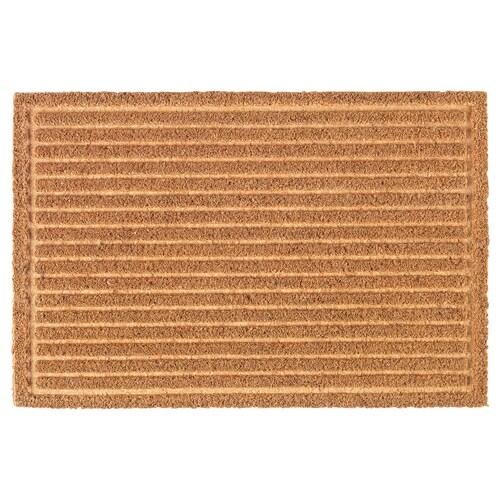 KVISTGÅRD door mat striped natural 60 cm 40 cm 15 mm 0.24 m² 6100 g/m² 2500 g/m² 12 mm
