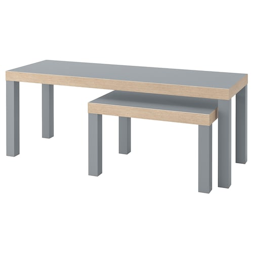 LACK nest of tables, set of 2 grey