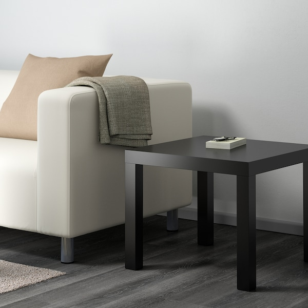 LACK طاولة جانبية, أسود, 55x55 سم