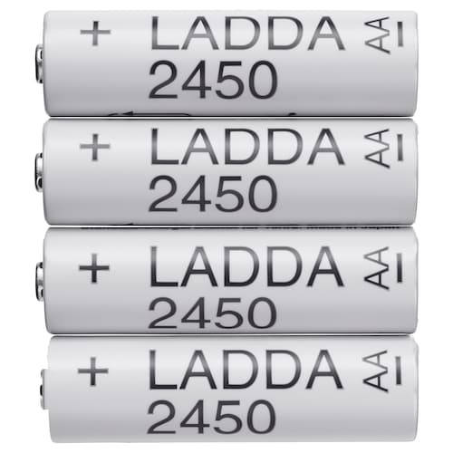 LADDA rechargeable battery 31 g 4 pack