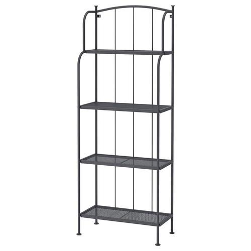 LÄCKÖ shelving unit, outdoor grey 61 cm 32 cm 160 cm 24 kg