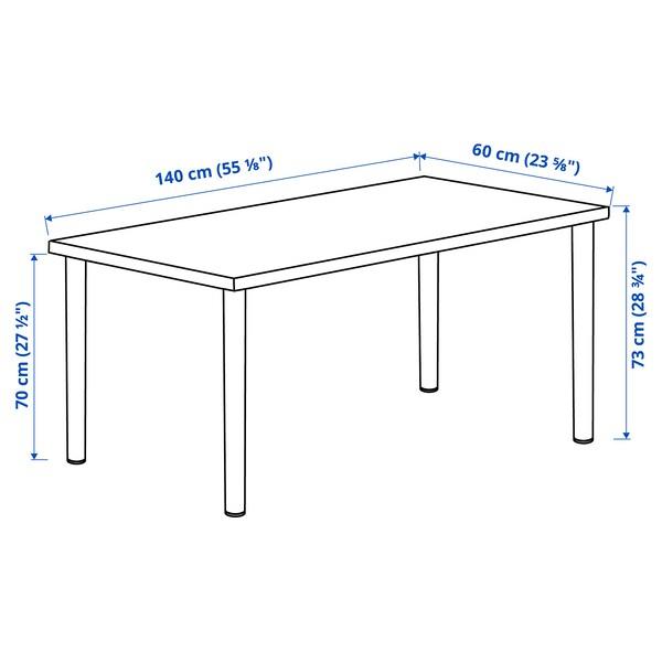 LAGKAPTEN / ADILS Desk, dark grey/black, 140x60 cm