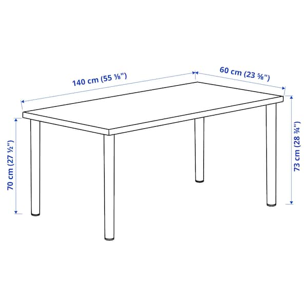 LAGKAPTEN / ADILS Desk, dark grey, 140x60 cm