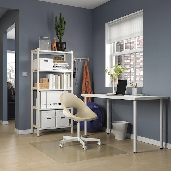 LAGKAPTEN / ADILS Desk, white, 140x60 cm