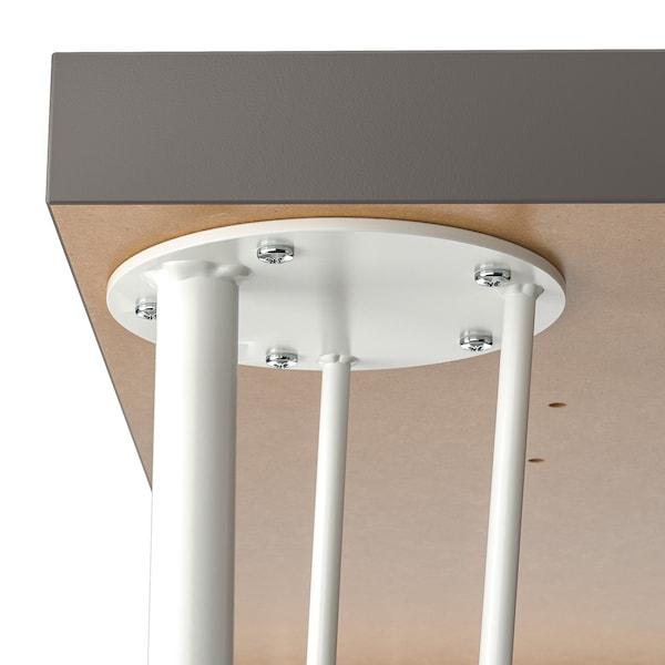 LAGKAPTEN / KRILLE مكتب, رمادي غامق/أبيض, 120x60 سم
