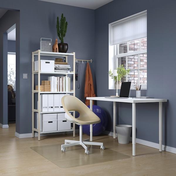 LAGKAPTEN / OLOV مكتب, أبيض, 120x60 سم