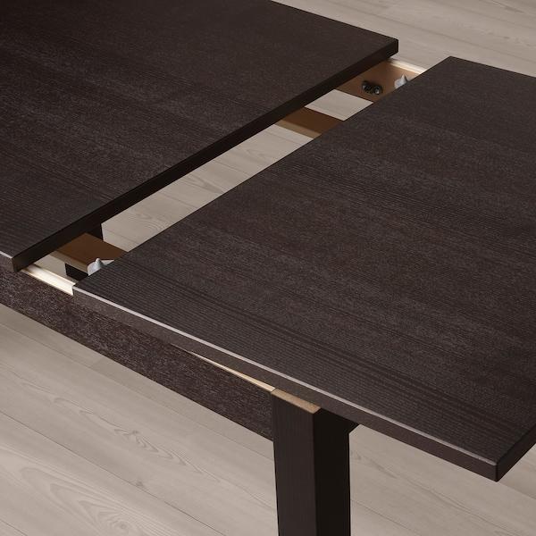 LANEBERG Extendable table, brown, 130/190x80 cm