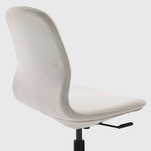 LÅNGFJÄLL كرسي مكتب, Gunnared بيج/أسود