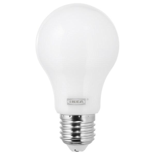 LEDARE LED bulb E27 600 lumen, warm dimming/globe opal white