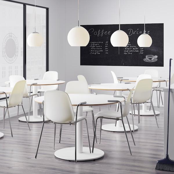 LEIFARNE chair with armrests white/Dietmar chrome-plated 110 kg 53 cm 50 cm 87 cm 45 cm 36 cm 46 cm