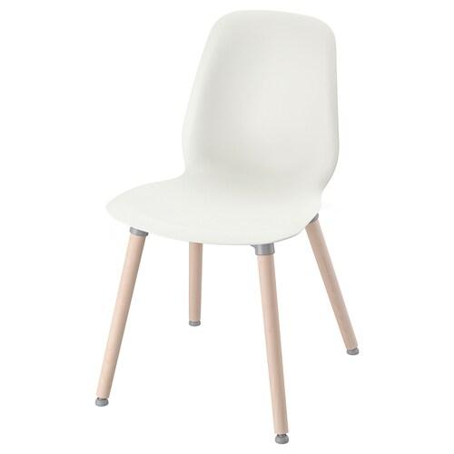 LEIFARNE chair white/Ernfrid birch 110 kg 52 cm 50 cm 88 cm 45 cm 36 cm 47 cm