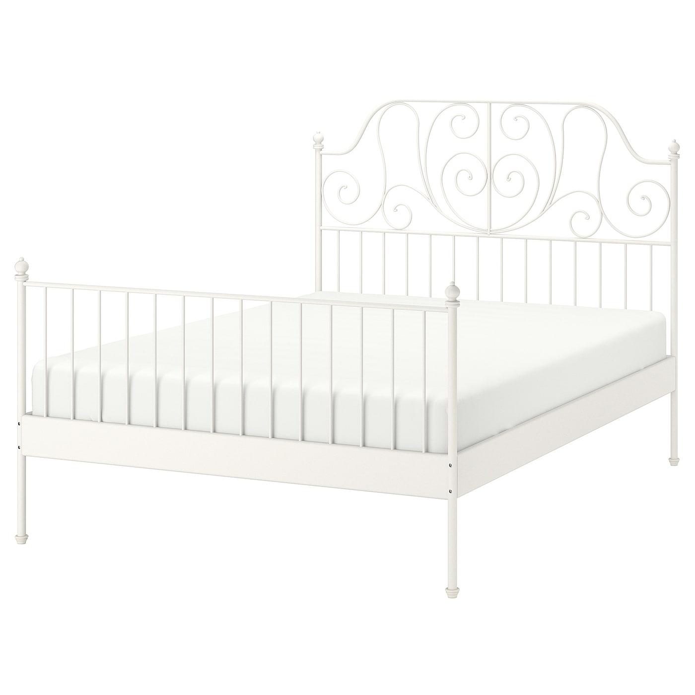 Leirvik Bed Frame White Lönset