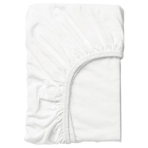 LEN fitted sheet white 160 cm 70 cm