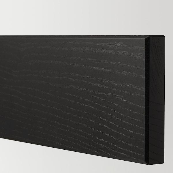 LERHYTTAN Drawer front, black stained, 40x10 cm