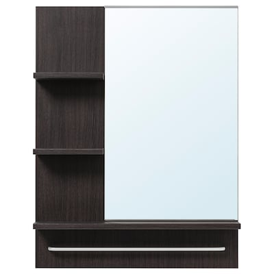 LILLÅNGEN Mirror, black-brown, 60x11x78 cm