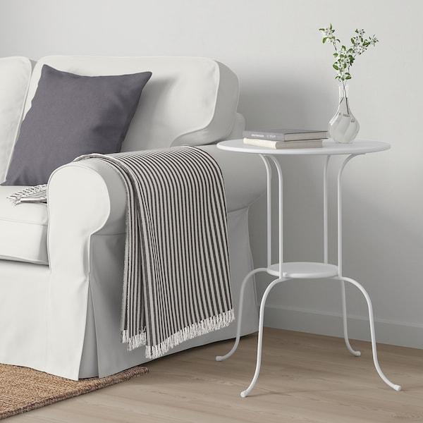 LINDVED Side table, white, 50x68 cm
