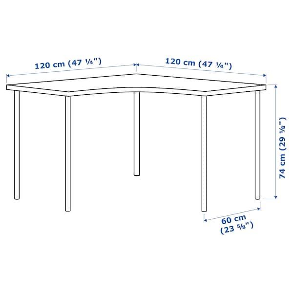 LINNMON / ADILS corner table white 120 cm 120 cm 74 cm 50 kg
