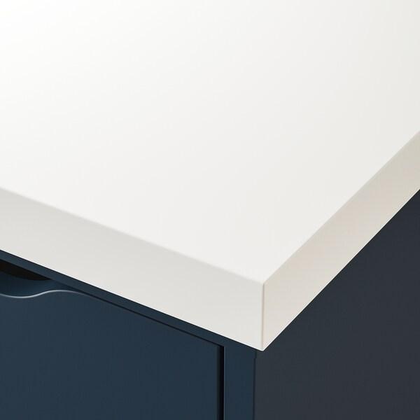 LINNMON / ALEX طاولة, أبيض/أزرق, 200x60 سم