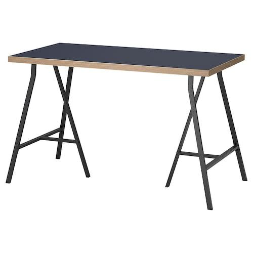 LINNMON / LERBERG table blue/grey 120 cm 60 cm 74 cm 50 kg