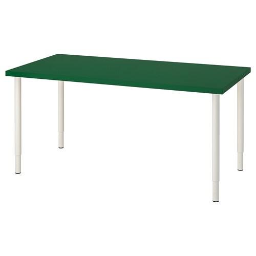 LINNMON / OLOV table green/white 150 cm 75 cm 64 cm 94 cm 50 kg