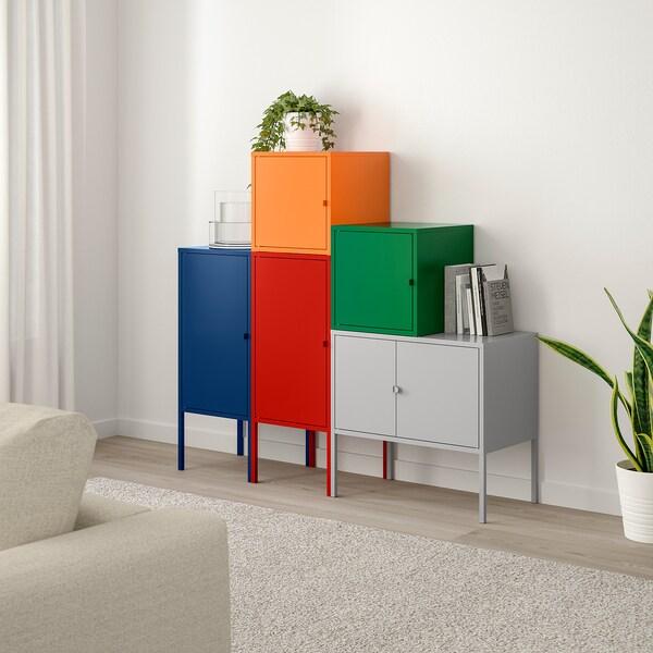 LIXHULT storage combination dark blue red/orange/grey/dark green 95 cm 117 cm 130 cm 35 cm 117 cm 21 cm 12 kg
