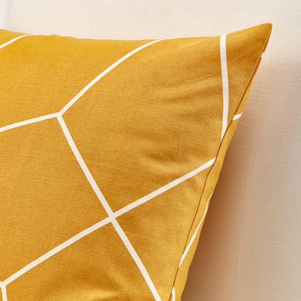 LJUV cushion cover yellow/printed 50 cm 50 cm