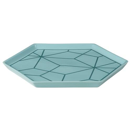 LJUV tray turquoise 31 cm 26 cm 2 cm