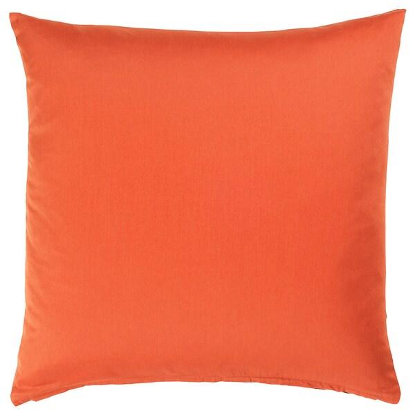 LJUVARE Cushion cover, embroidery orange, 50x50 cm