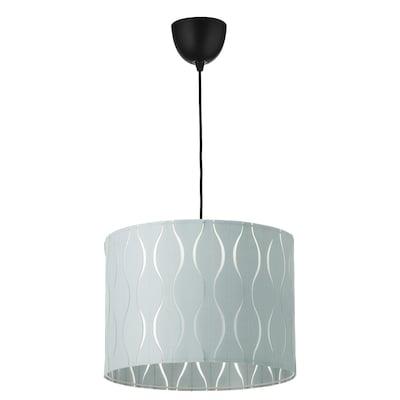 LÖKNÄS / SUNNEBY Pendant lamp, blue/silver-colour, 42 cm
