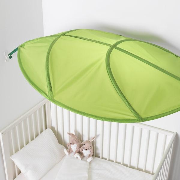 LÖVA bed canopy green 136 cm 90 cm