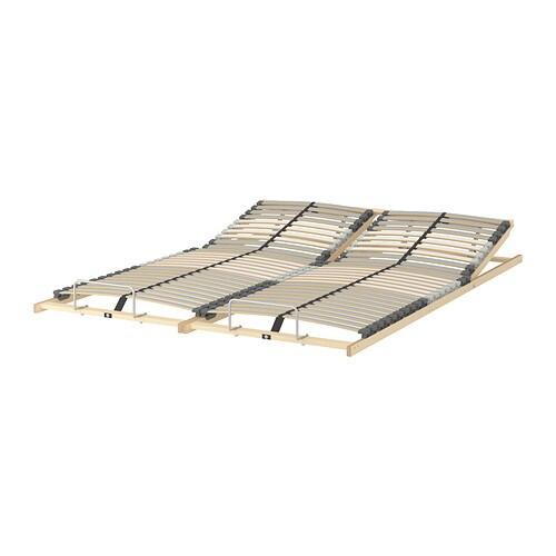 l nset slatted bed base adjustable 140x200 cm ikea. Black Bedroom Furniture Sets. Home Design Ideas