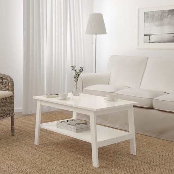LUNNARP Coffee table, white, 90x55 cm