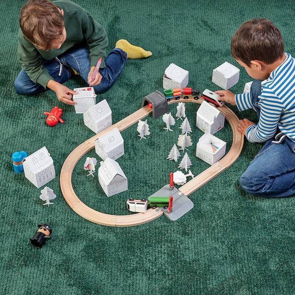 MÅLA طقم مدينة كرتونية للأطفال 10 قطع