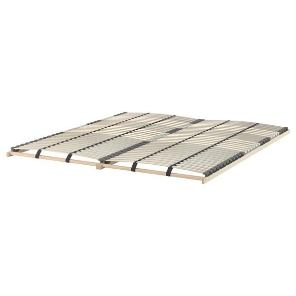 MALM Bed frame, high, w 4 storage boxes, white/Lönset, 140x200 cm