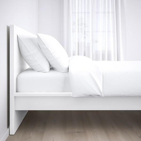 MALM هيكل سرير، عالي, أبيض/Lonset, 140x200 سم