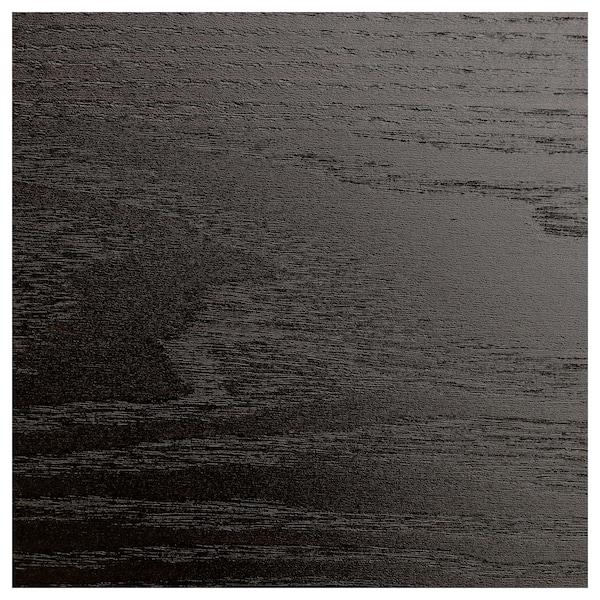 MALM Chest of 6 drawers, black-brown/mirror glass, 40x123 cm