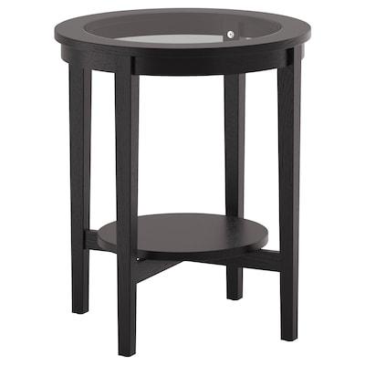 MALMSTA طاولة جانبية, أسود-بني, 54 سم