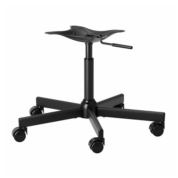 MALSKÄR Chair frame, swivel, black
